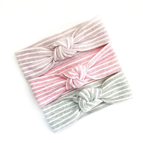 Knot Headband - Heather Stripes