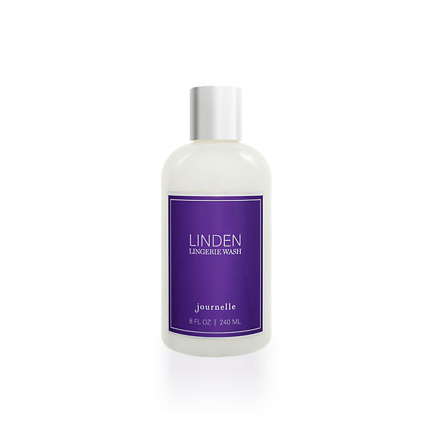 Journelle  Linden Lingerie Wash 8oz It should come as no surprise that we love lingerie. And we know just how hard it can be to keep those gorgeous delicates looking (and feeling) gorgeous. So with a little help from the experts at The Laundress (who happen to be some of our favorite ladies), we've turned our signature linden fragrance into a highly-concentrated, super-gentle laundry detergent that removes body oils, perspiration, and stains while cleaning and preserving delicate fabrics. It's the best way to keep your lingerie lovely longer-and make it smell amazing too. And for those of us with limited storage space (ahem, NYC apts.) we made sure the bottle looks as lovely on your shelf as your lingerie will on your self. What's not to love?