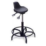 Sit Stand Stool with Tubular Steel Base