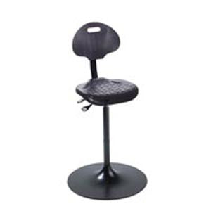 Trumpet Based Sit Stand Chair with Lumbar Support
