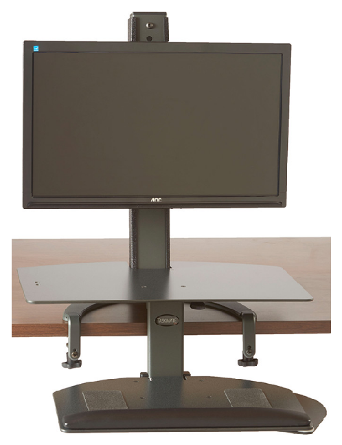 6301 TaskMate Go Single Monitor With Large Work Surface