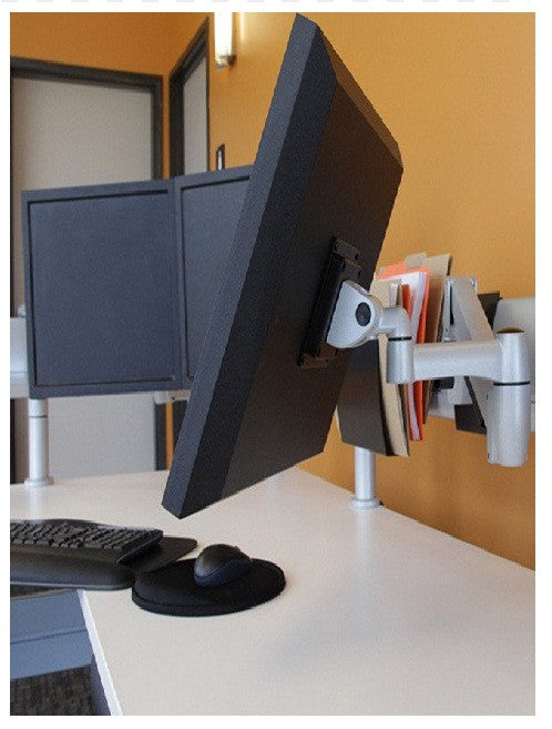 Double Monitor Arm Mounting Options