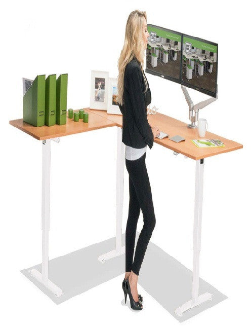 MULTITABLE ELECTRIC L-SHAPED HEIGHT ADJUSTABLE STANDING DESK