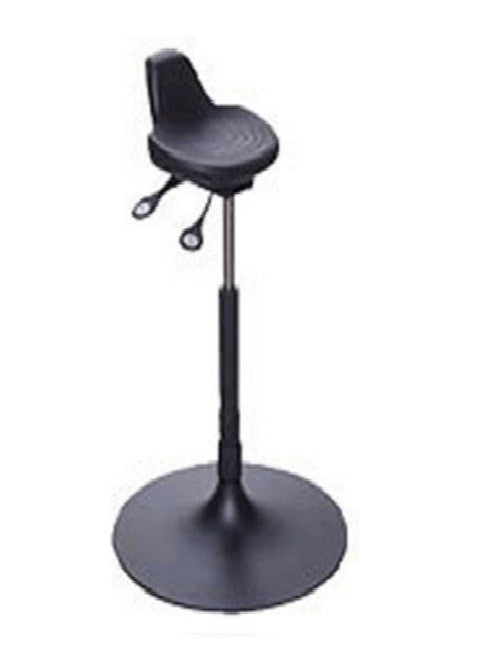 Sit Stand Stool with Trumpet Base