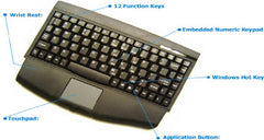 Mini-Touch Keyboard With Touchpad