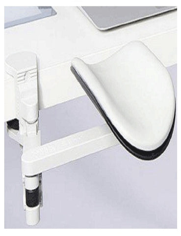 Articulating Arm Rest White Long Pad: