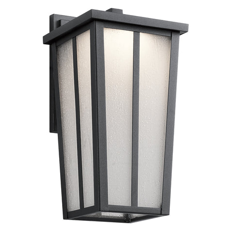 Amber Valley - Outdoor Wall 1Lt LED - 49622BKTLED