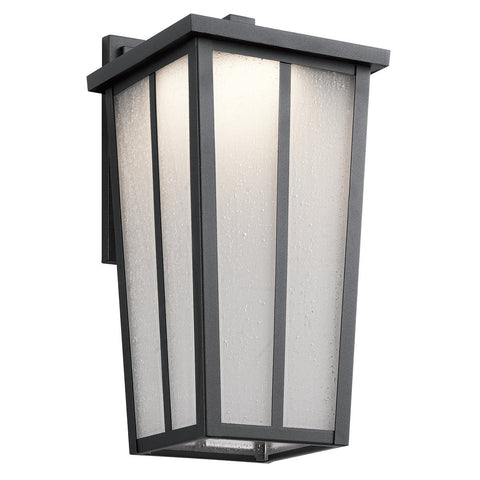 Amber Valley - Outdoor Wall 1Lt LED - 49623BKTLED