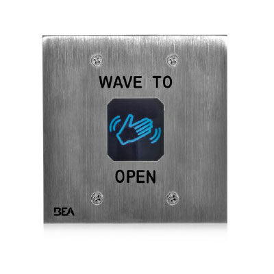 BEA 10MS11D Double Gang Touchless Actuator With Wave Logo Stainless Steel Finish