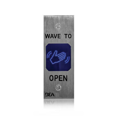BEA 10MS11J Jamb Style Touchless Actuator With Wave Logo Stainless Steel Finish
