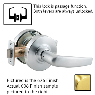Schlage ND Series Athens Lever Lock With Cylinder