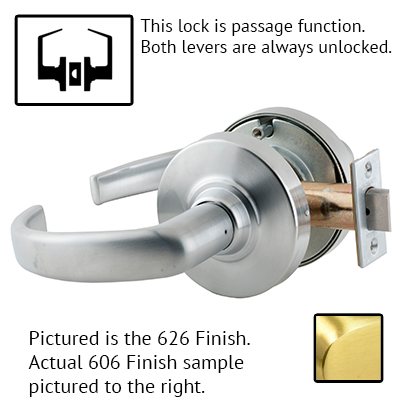 Schlage ND53PD SPA 626 Sparta Design Lever Lock