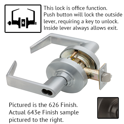 Schlage ND Series Rhodes Lever Lock Accepts Best SFIC Less Core US Finishes