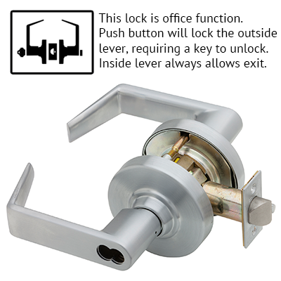 Schlage ND53BD RHO 626 Rhodes Design Lever Lock
