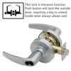 Schlage ND Series Athens Lever Lock Accepts LFIC Less Core