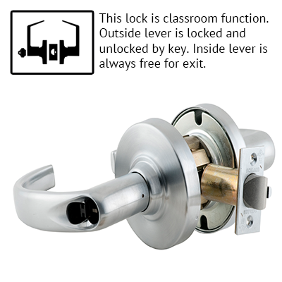 Schlage ND53JD SPA 626 Sparta Design Lever Lock