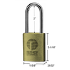Stanley Best 11B772 Padlock Less Core Brushed Brass Finish