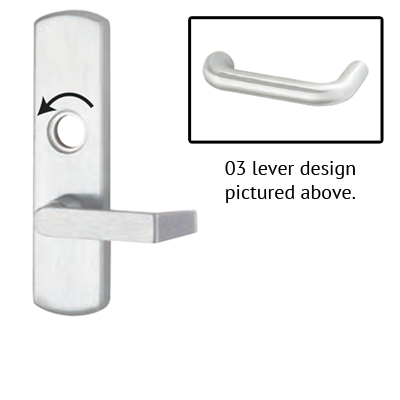 Von Duprin 996L-NL-03 R/V Lever Night Latch Trim