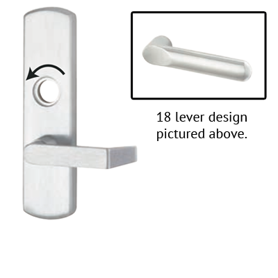 Von Duprin 996L-NL-18 R/V Lever Night Latch Trim