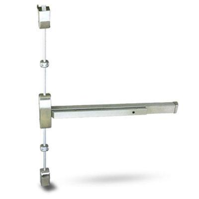 Cal Royal F9860V3684 US4 RHR Brushed Brass Finish Fire Rated Vertical Rod Panic Bar Exit Only