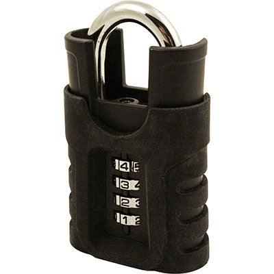 Padlocks 4 Less SX-975 Combination Padlock With Shrouded Shackle With Rubber Cover