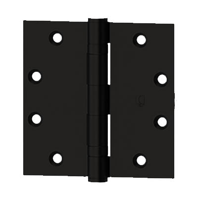 Hager BB1279N 4-1/2X4-1/2 L1 Standard Weight Non Removable Pin Hinge Black Finish