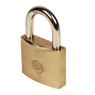 "Padlocks 4 Less Mountain Series BP150 1 1/2"" Solid Brass Padlock"