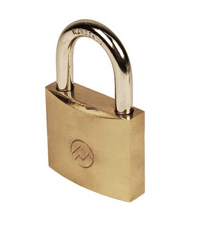 "Padlocks 4 Less Mountain Series BP125 1 1/4"" Solid Brass Padlock"