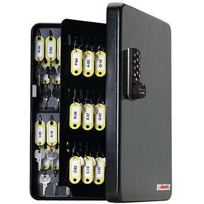 Padlocks 4 Less SL-8548-E KeyGuard Key Cabinet With 48 Hooks With Electronic Lock