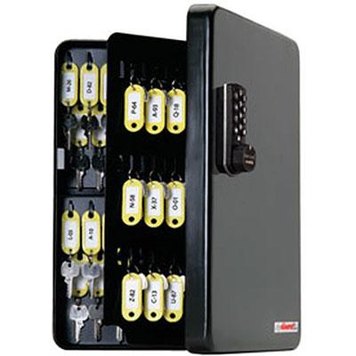 Padlocks 4 Less SL-8548-R KeyGuard Key Cabinet With 48 Hooks With RFID Keycard Access