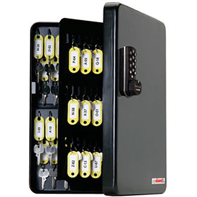 Padlocks 4 Less SL-9122-R KeyGuard Key Cabinet With 122 Hooks With RFID Keycard Access