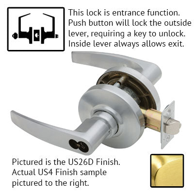 Schlage AL Series Jupiter Lever Grade 2 Lock Accepts Schlage LFIC Less Core US Finishes