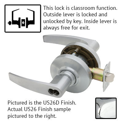 Schlage AL Series Jupiter Lever Grade 2 Lock Accepts Best SFIC Less Core US Finishes