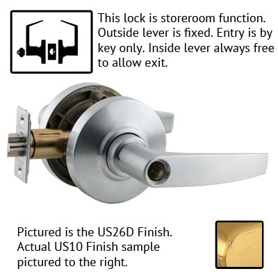 Schlage AL Series Jupiter Lever Grade 2 Lock Less Cylinder US Finishes
