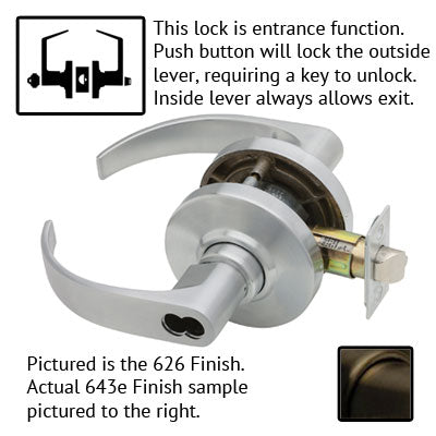 Schlage AL Series Neptune Lever Grade 2 Lock Accepts Best SFIC Less Core