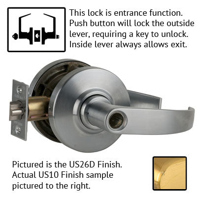 Schlage AL Series Neptune Lever Grade 2 Lock Less Cylinder US Finishes