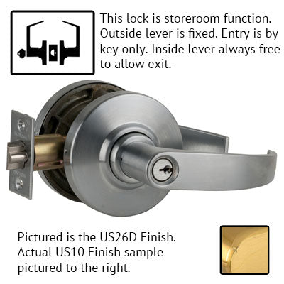 Schlage AL Series Neptune Lever Grade 2 Lock With Cylinder US Finishes
