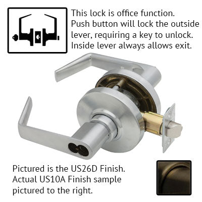 Schlage AL Series Saturn Lever Grade 2 Lock Accepts Schlage LFIC Less Core US Finishes