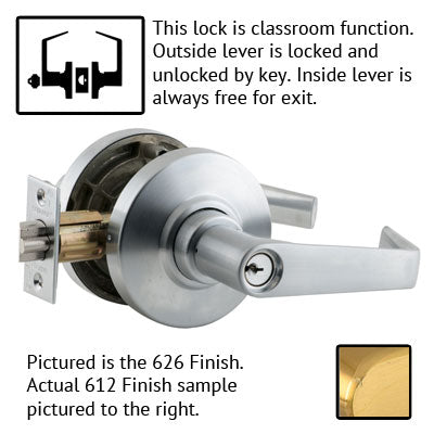 Schlage AL Series Saturn Lever Grade 2 Lock With Cylinder