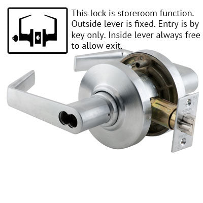 Schlage AL Series Saturn Lever Grade 2 Lock Accepts Best SFIC Less Core US Finishes