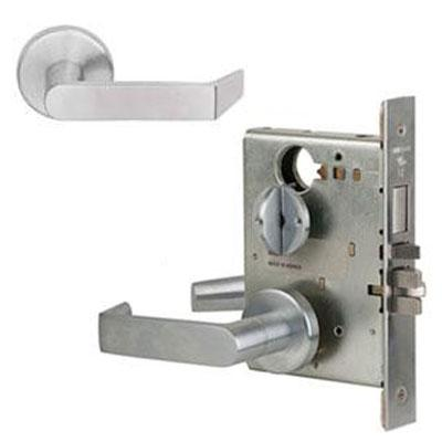 Schlage L9040S 06A 626AM Antimicrobial Privacy Lever Mortise Lock Brushed Chrome Finish