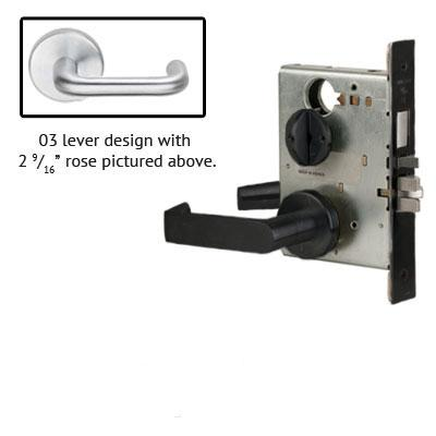 Schlage L9070P 03B 622 Black Finish Classroom Lever Mortise Lock With Cylinder