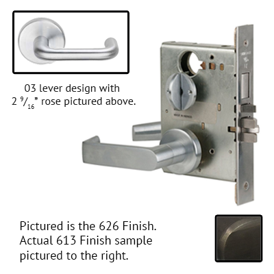 Schlage L9080P 03B 613 Oil Rubbed Bronze Finish Storeroom Lever Mortise Lock With Cylinder