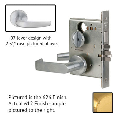 Schlage L9080P 07A 612 Brushed Bronze Finish Storeroom Lever Mortise Lock With Cylinder
