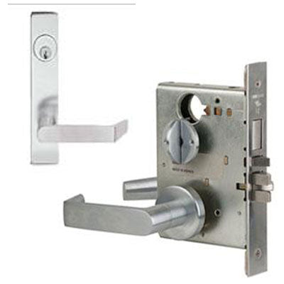 Schlage L9453J 06L Plate Trim Lever Mortise Lock Accepts Schlage LFIC Less Core