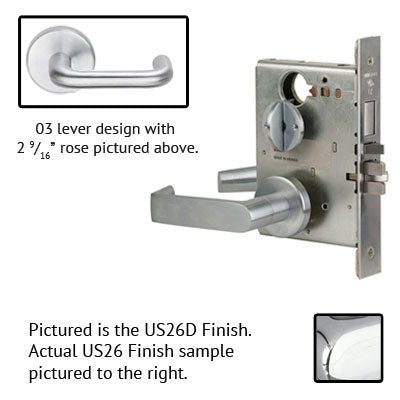 Schlage L9453P 03B Lever Mortise Lock With Cylinder US Finishes