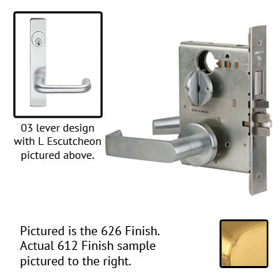 Schlage L9453J 03L Plate Trim Lever Mortise Lock Accepts Schlage LFIC Less Core