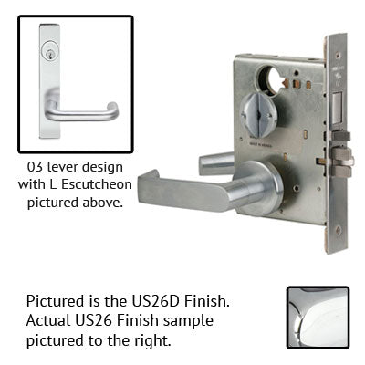 Schlage L9453L 03L Plate Trim Lever Mortise Lock Less Cylinder US Trim