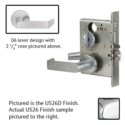 Schlage L9453L 06A  Lever Mortise Lock Less Cylinder US Finishes
