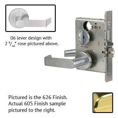 Schlage L9453P 06B Lever Mortise Lock With Cylinder